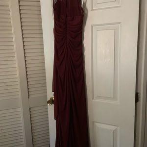 David's Bridal Dresses - Size 0 maroon/burgundy bridesmaids dress